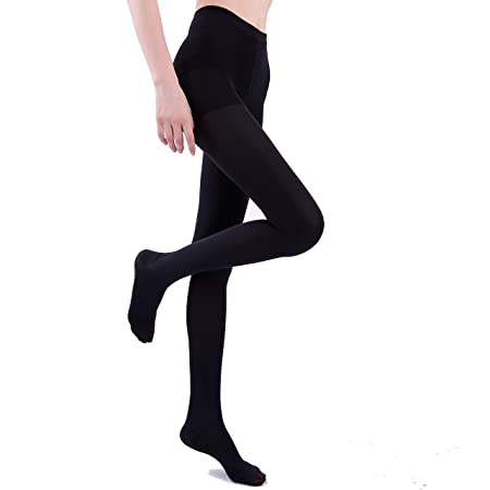 Opaque Medical Compression Pantyhose 23-32mmHg Surgical Stockings Closed Toe for Women Men Plus Size Graduated Hose Tights