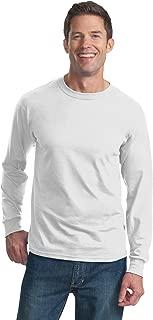 Adult 5 Oz HD Cotton Long-Sleeve T-Shirt - White - S - (Style # 4930 - Original Label)