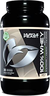 Muscle Feast 100% Whey Protein Blend, Grass Fed & Hormone Free, Blend of Concentrate, Isolate, and Hydrolyzed Whey Protein...