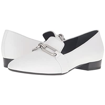 Michael Kors Lennox Loafer (Optic White Smooth Calf) Women