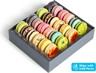 Luxury French Macarons European Cookies Gift Baskets Birthday Snacks Variety Pack Sympathy Anniversary Get Well Corporate Halloween Thanksgiving Holiday Christmas Women Men Her Him Girls Kids Prime 24