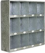 Cheung's FP-3745 Galvanized Metal Wall Cubby with Number Labels