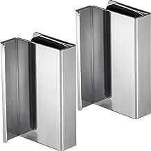 GedoTec Magnetische druksluiting voor glazen deuren met 2 vleugels, hechtkracht 2,5 kg, magnetische snapper, zwart om te s...