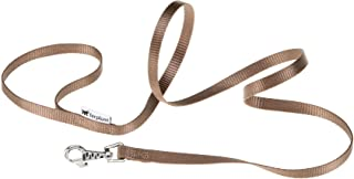 Ferplast Club G10/120, High Quality Nylon Simple Grip and Secure Attachment Lead- Brown