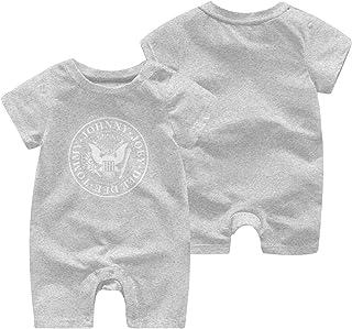 LouisBerry Ramones-Logo Sommer Kurzarm Mädchen Jungen Strampler Body Suit Baby Pyjama Jumpsuit