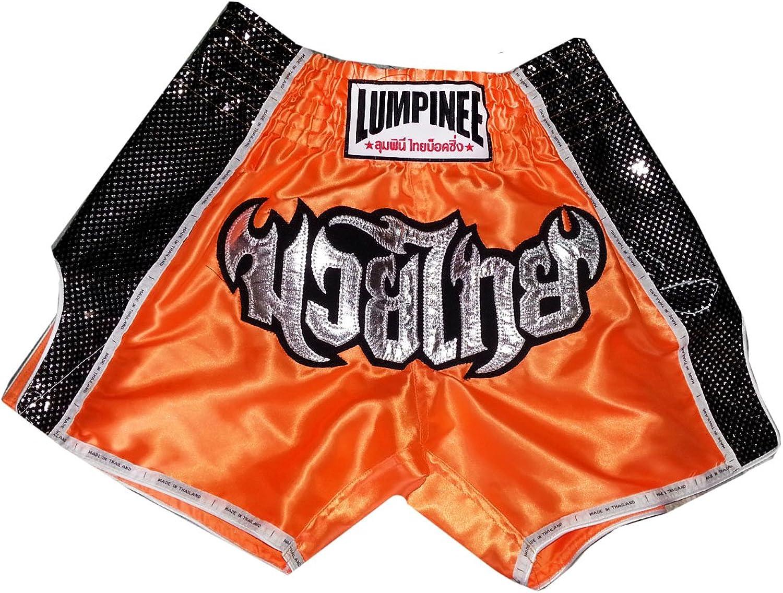 Lumpinee Retro Muay Thai Thai Thai Boxing Hose LUMRTO-003-Orange Grosse L B00L6FA0NU  Ausgezeichneter Wert 272474