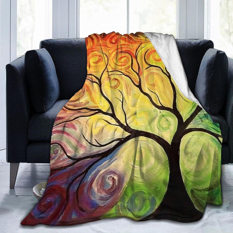 Fantastic Cartoon Overseas parallel Max 90% OFF import regular item Tree Sherpa Mens Blanket Soft B