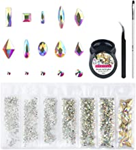 Nibiru Crystal AB Round & Multi-Shape Glass Nail Rhinestone Set(1728+60pcs), Flatback..