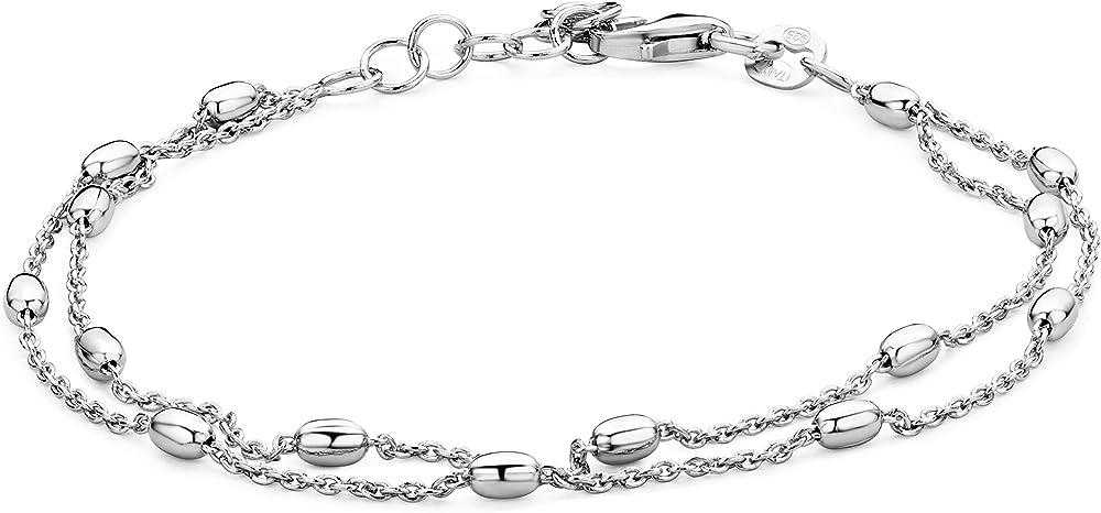 miore,bracciale da donna in argento sterling 925(2,8 gr) msf035b