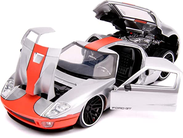 JADA Bigtime Muscle Gloss Red w//Black Stripes 1:24 2017 Ford GT