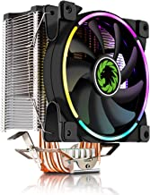 CPU Cooler, 120mm Addressable RGB PWM Fan with 4 Copper Heatpipes, GAMEMAX GAMMA-500-RAINBOW