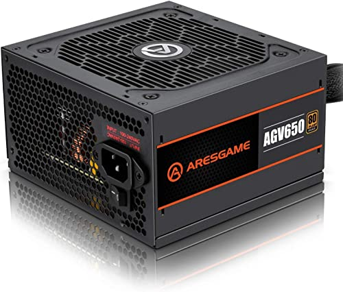ARESGAME Alimentation PC 650W, 80 Plus Bronze (AGV650)