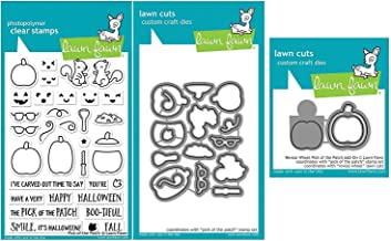 Lawn Fawn Pick of The Patch Clear Stamps, Coordinating Die and Pick of The Patch Reveal Wheel Add-on Die, Three Piece Bundle (LF1754, LF1755, LF1756)