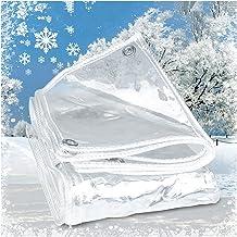 PENGFEI Transparant dekzeil Heavy Duty, PVC Plastic Waterdichte Doek met Grommet, Duidelijke Duurzame Versterkte Cover voo...