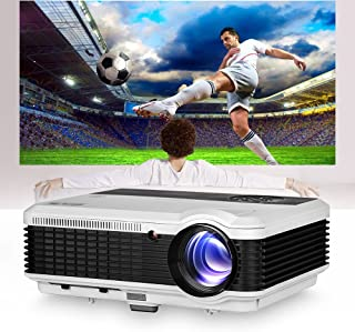 2019 LCD LED Outdoor HD Projector WXGA 4600 Lumen Home Theater Cinema Multimedia TV Projectors for Gaming Art Tracing Back...