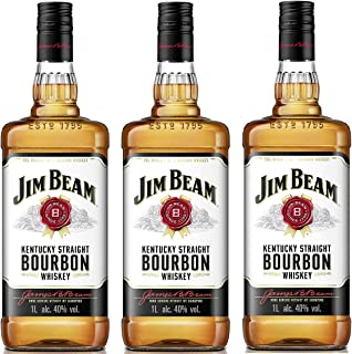 Jim Beam Bourbon Whisky 3 x 1 Liter