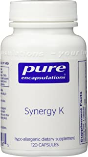 Pure Encapsulations - Synergy K - Hypoallergenic Formula with Vitamin K1, K2, and D3 for Bone and Arterial Health* - 120 Capsules
