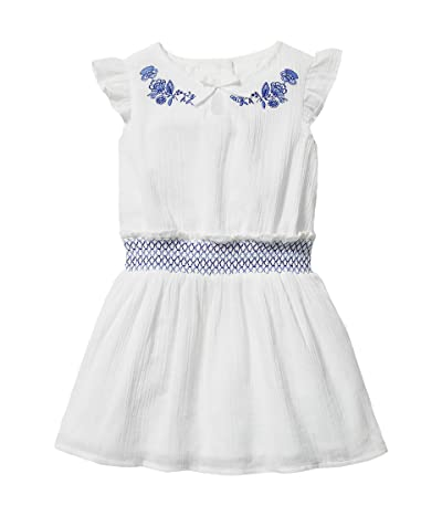 Janie and Jack Gauze Embroidered Dress (Toddler/Little Kids/Big Kids)