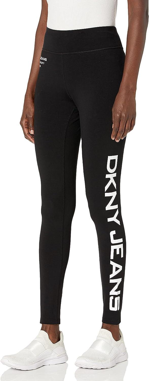 DKNY Jeans Women's Casual Mid Rise Logo Leggings