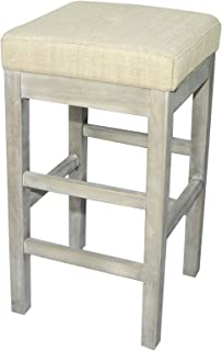 New Pacific Direct Valencia Backless Counter Bar & Counter Stools, Canvas White