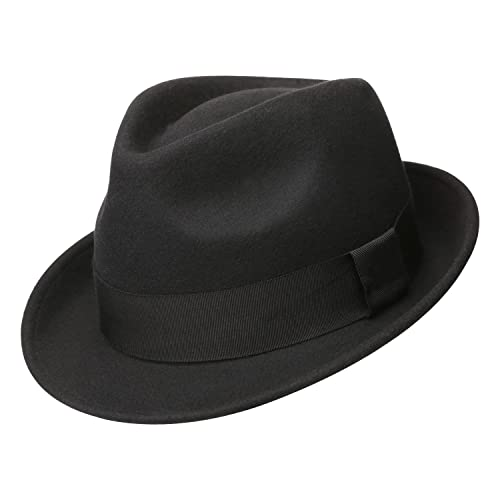 Sedancasesa Mens Felt Fedora Hat Unisex Classic Manhattan Indiana Jones Hats 8a7c0ebe4b8