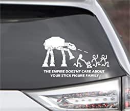 POPCultureSigns Star Wars Parody The Empire Doesn't Care About Your Stick Figure Family at at Vinyl Decal 7.7