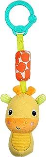 Bright Starts Chime Along Friends On-The-Go Take-Along Toy, Giraffe, Newborn +