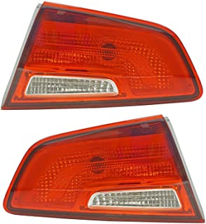 Inner Trunk Lid Mounted Tail Light Lamp LH RH Set of 2 Pair for Kia Optima
