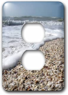 3dRose lsp_89073_6 Seashells, Sanibel Island, Gulf Coast, Florida Us10 Dfr0166 David R Frazier 2 Plug Outlet Cover