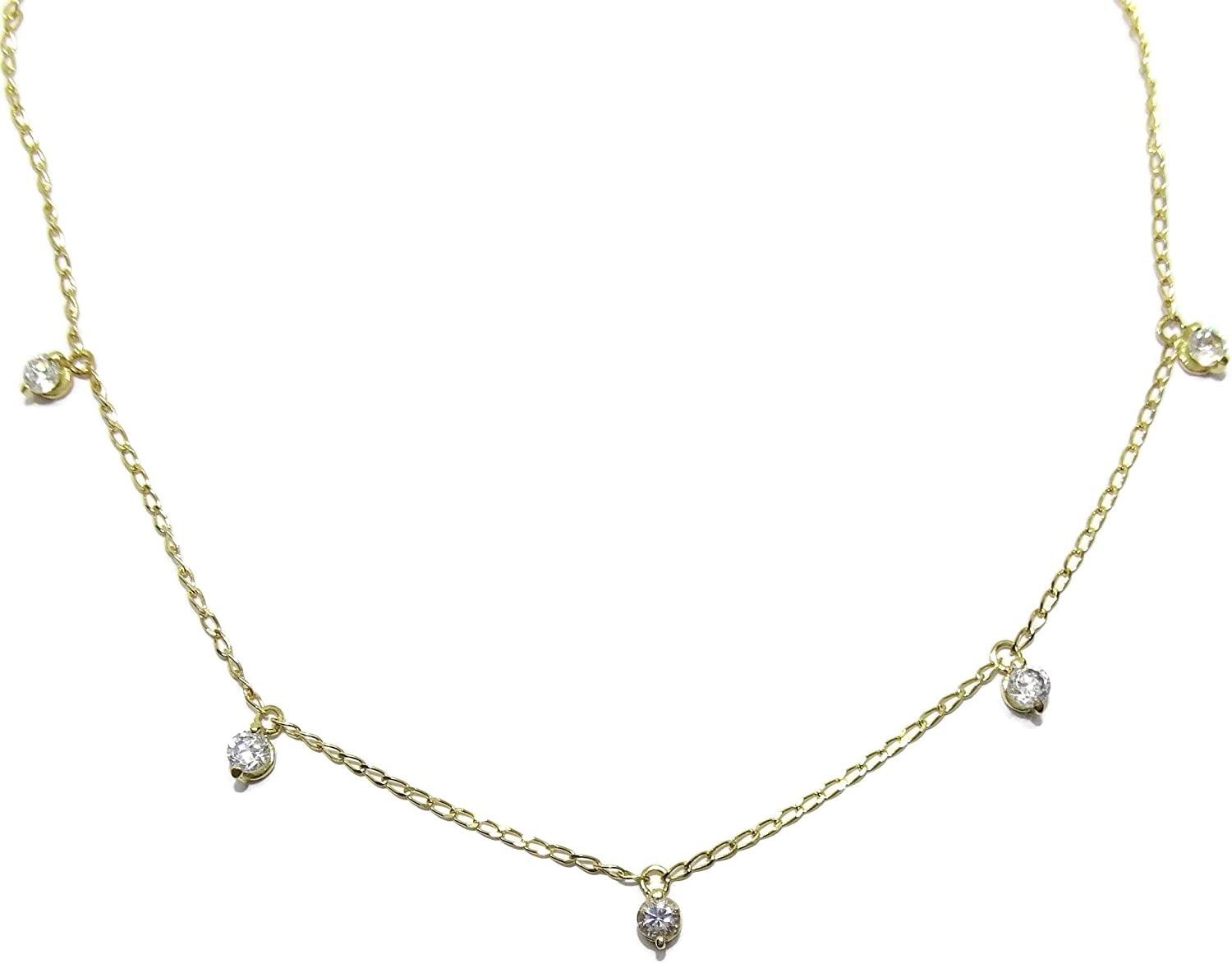Tampa Mall Never say 18K Gold Collar Kansas City Mall for Woman Zirconia Necklace Da