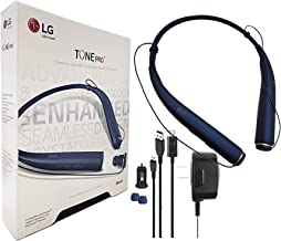 LG Tone 780 - Bluetooth Wireless Stereo Headset with Car Charger, Ear Gels with Car/Wall Charger (US Retail Packing)