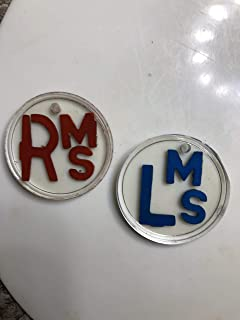X-ray Markers Red and Blue with a Hole for Storage Initials are (MS)