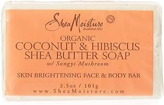 Shea Moisture Organic Coconut & Hibiscus Shea Butter Bar Soap For Unisex, 103.5 gm
