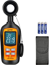 ALPTHY Light Meter Lux Meter Digital Illuminance Light Meter for Plants Handheld Ambient Temperature Measurer with Range up to 200,000 Lux,Color Back Light,MAX/MIN,Data Hold,Low Battery Indication