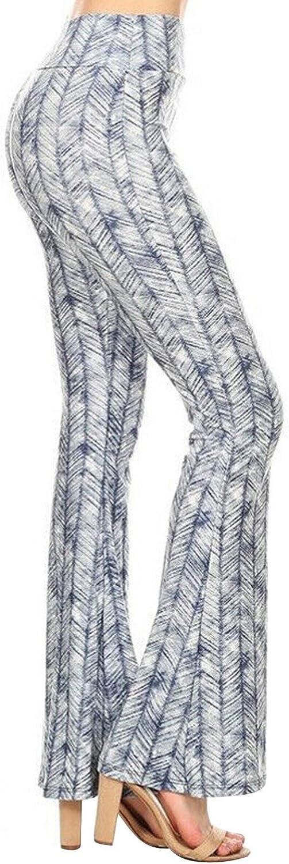 IKDXUF Women's Flare Palazzo Wide Leg Pants Bell Bottom Stripes