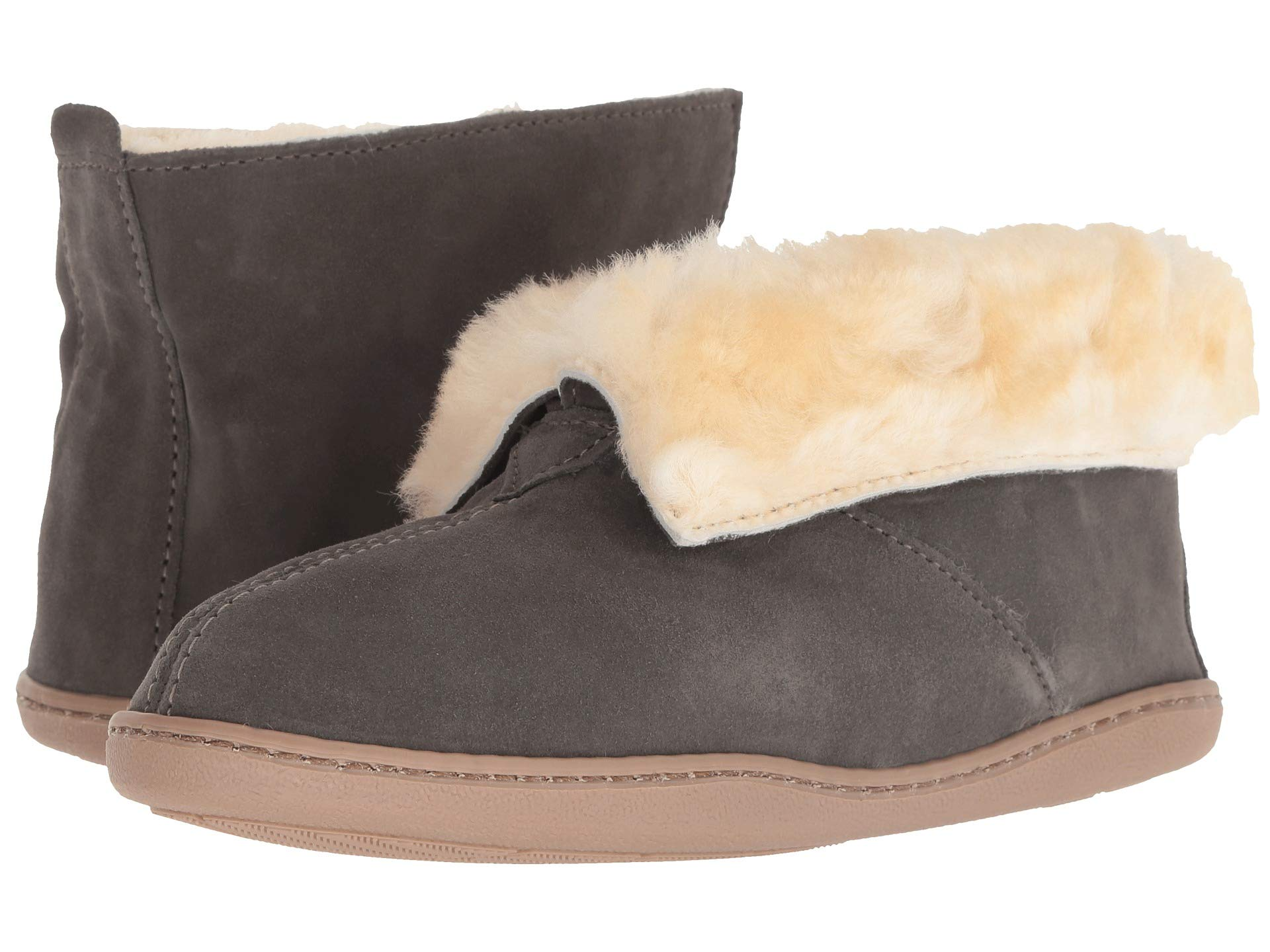 Minnetonka Ankle Suede Sheepskin Grey Boot H8H7q0
