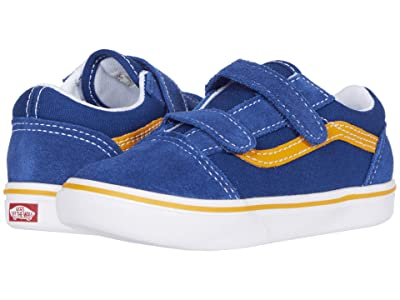 Vans Kids ComfyCush Old Skool V (Infant/Toddler) ((Pop) True Blue/Cadmium Yellow) Boys Shoes