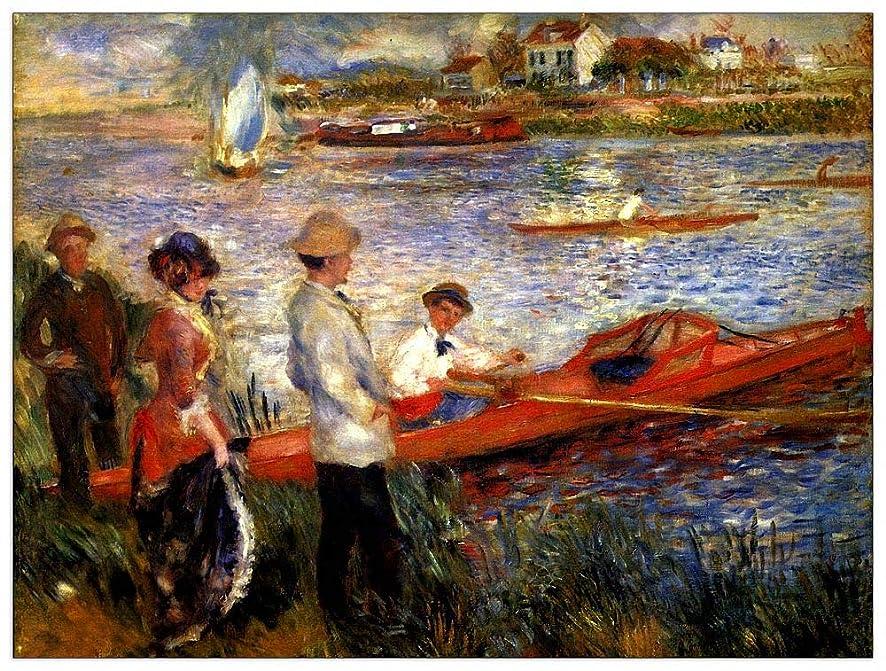ArtPlaza TW92767 Renoir Pierre-Auguste - Oarsman of Chatou Decorative Panel 51x39.5 Inch Multicolored
