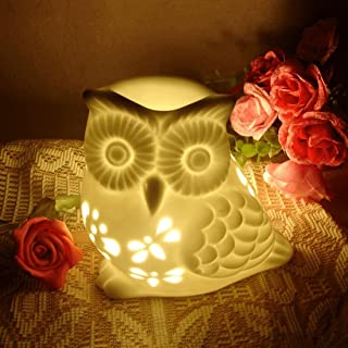 AI·X·IANG Owl Shape Tea Light Holder Fragrance Essential Oil Burner, Aromatherapy Wax Melt Warmer, Essential Oil Diffuser, Great Decoration Gift for Living Room, Balcony, Patio, Porch and Garden