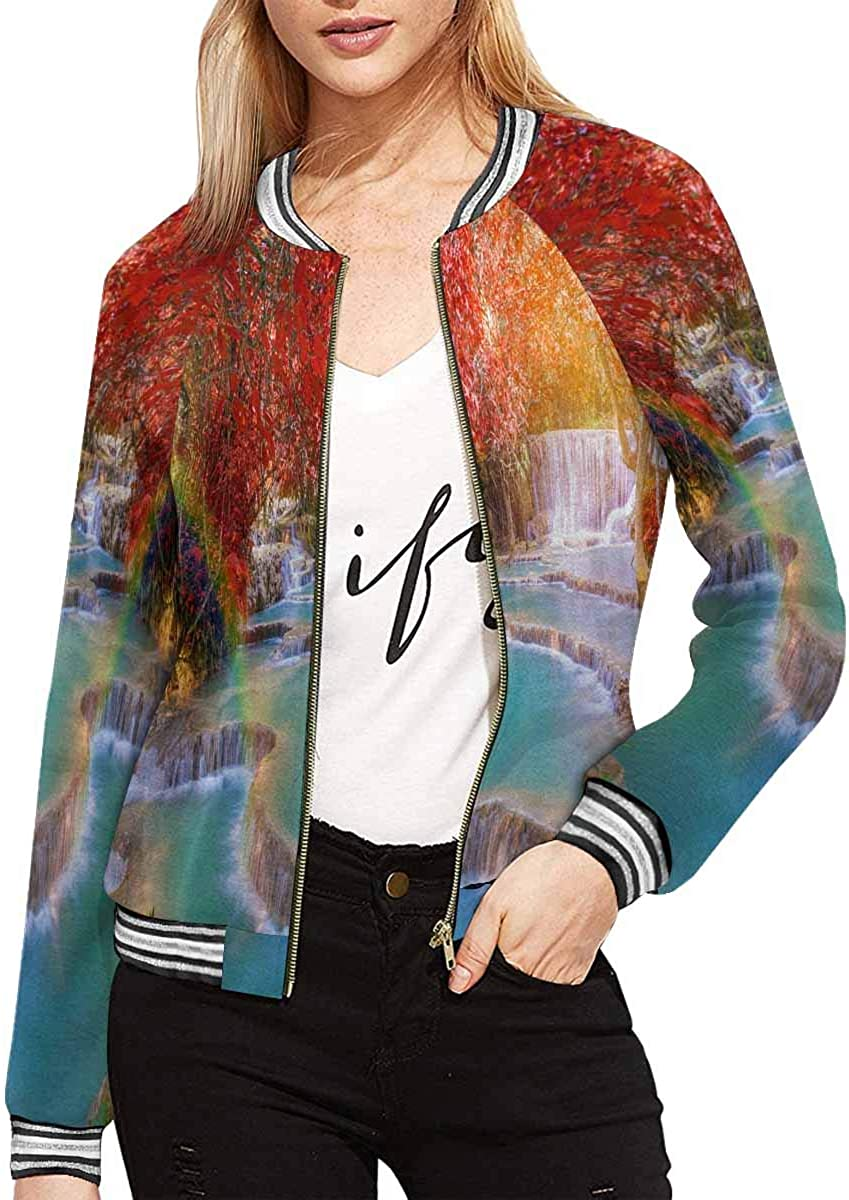 InterestPrint Max 42% OFF Anchor Feathers Peony Long Rose Mail order cheap Bouquet Jacket
