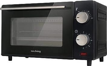Innoliving INN-790 Four électrique 10 litres avec thermostat et minuteur, 10 liters, Noir