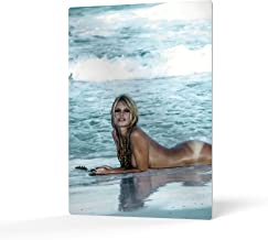 HB Art Design Brigitte Bardot Tanning During The Filming of Contempt Movie Colored Metal Wall Art Print Sexy French Icon A...
