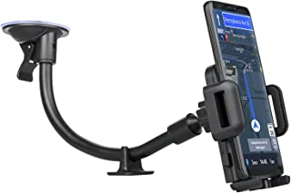 EEEKit Car Mount, Universal Windshield Dashboard 13 inches Long Arm Sucker Phone Stand Holder for iPhone X/8/7, Samsung Galaxy S10 S10E S9 S8 Note 9 8, Nexus 5X/6P, LG, HTC and All Smartphones