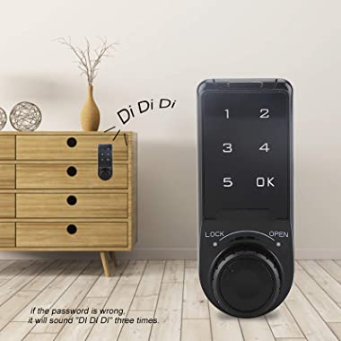 Cabinet Code Security Lock,Touch Keypad Password Key Access Lock Digital Electronic Security Cabinet Coded Locker L=20mm,Safe