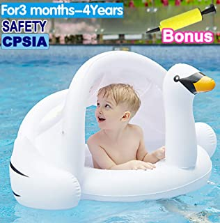 Pools & Spas Floats & Rafts Dmar 0-3 Years Baby Inflatable Flamingo Swan Pool Float With Sunshade Ride-on Traveling