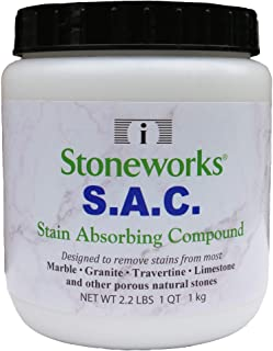 SAC Poultice Powder (2.2 Lb) Designed to Eliminate Stains Such as Coffee, Tea, Oil, Grease, Butter and Other Non-Acid Stai...