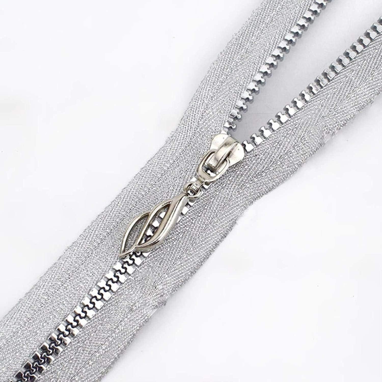 Decorative Zipper 5 pcs 60cm Open-end Resin Zipper for Sewing Co