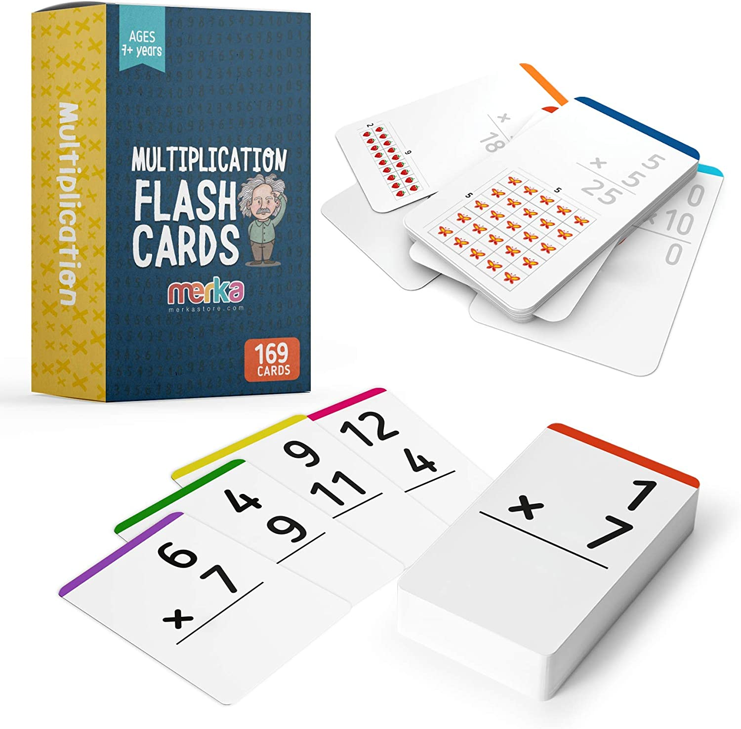merka Save money Multiplication Flashcards Brand new Learning Math - Numbers Facts 0