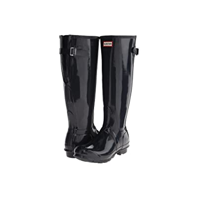 Hunter Original Back Adjustable Gloss Rain Boots (Navy) Women