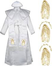 Unotux New Born Boy Baby Christening Baptism Formal Gown with Virgin Mary Stole 0-30 M